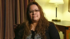 Jocelyn Iahtail, a former resident of Attawapiskat appears on Canada AM, Wednesday, Dec. 14, 2011.