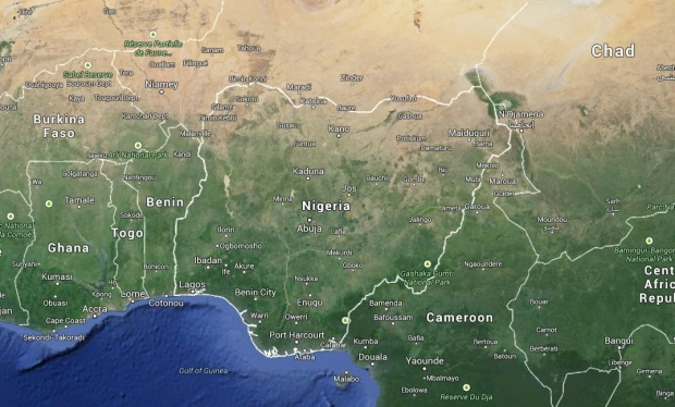Nigeria is shown in this image taken from Google Maps. (Screengrab / Google Maps)