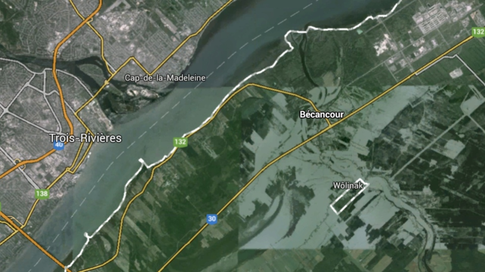 In this undated Google map, the city of Becancour, Que. is pictured.