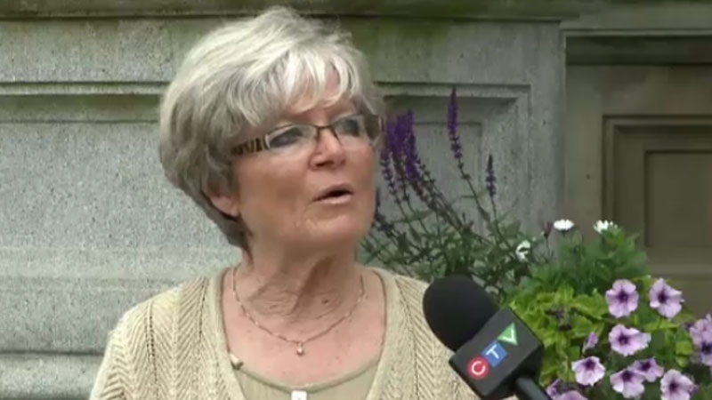 Rita Bahir wants the New Brunswick government to ban the practice of keeping dogs tethered all the time. (CTV Atlantic)