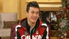 Figure Skating champion Patrick Chan appears on Canada AM, Wednesday, Dec. 14, 2011.