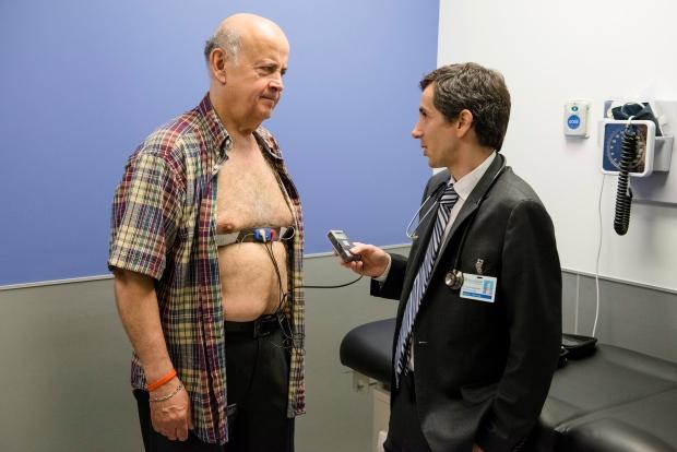 A patient discusses atrial fibrillation