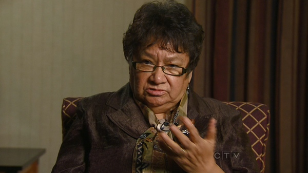 Mary Lou, Jocelyn Iahtail's mother, speaks with CTV News.