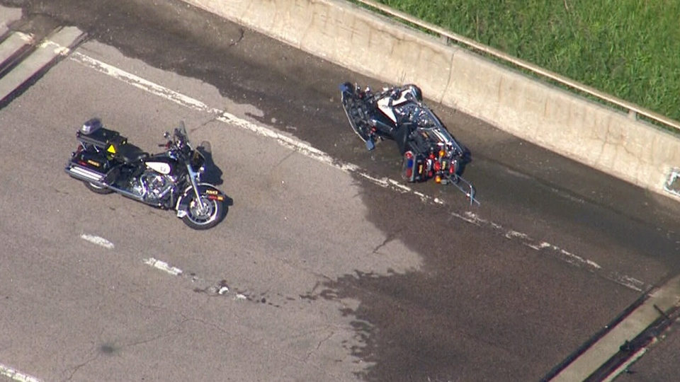 Ontario Provincial Police Motorcyclist Injured After