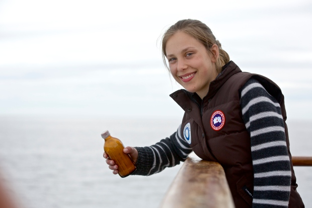 Saskia Vaisey drops message in a bottle