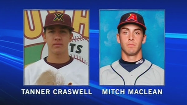 Tanner Craswell and Mitch MacLean, both from Prince Edward Island, were killed in a suspicious incident that left two other victims dead and a woman in hospital, Thursday, Dec. 15, 2011.