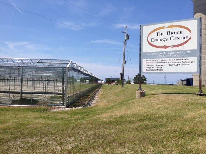 The greenhouses at the Bruce Energy Park where Advanced Medical Marihuana Canada plans to grow medical marijuana are seen near Tiverton, Ont. on Friday, June 27, 2014. (Scott Miller / CTV London)