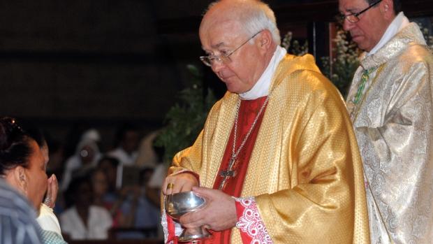 Archbishop Josef Wesolowski, papal nuncio for the Dominican Republic, leads a Mass in Santo Domingo, Dominican Republic, March 15, 2013. (AP / Manuel Diaz)
