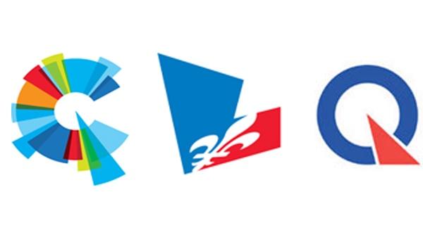 CAQ, Liberal and PQ logos