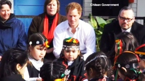 Extended: Prince Harry visits kindergarten class