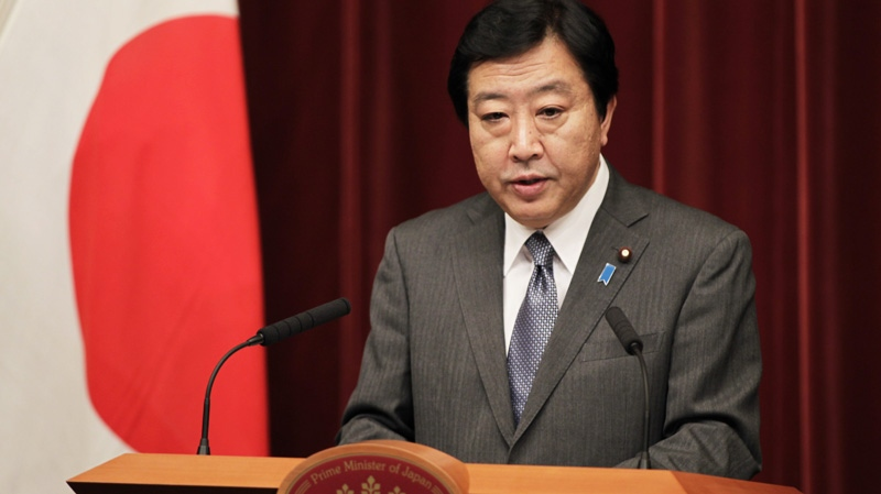 Japanese Prime Minister Yoshihiko Noda speaks during a press conference at his official residence in Tokyo Friday, Dec. 16, 2011.  (AP / Hiro Komae)