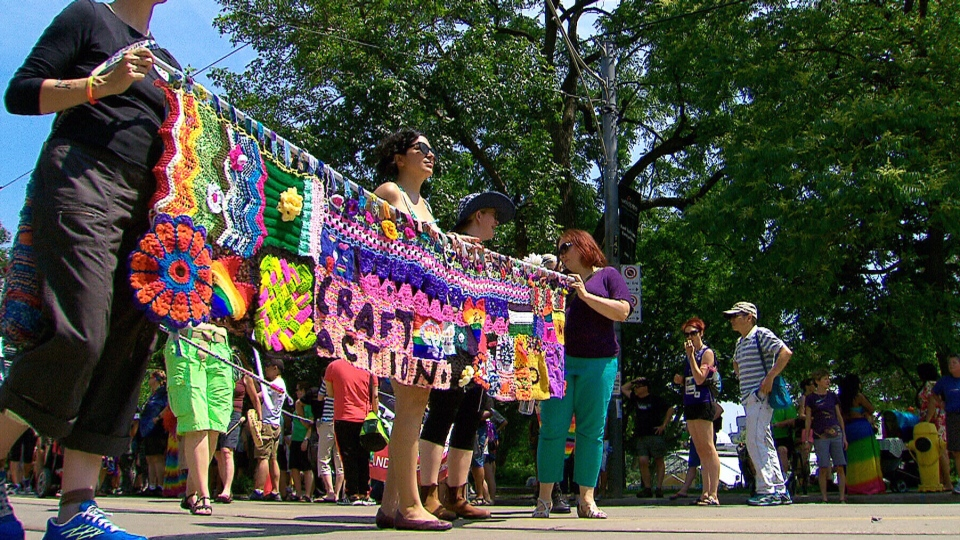 Hundreds attended the Dyke March for WorldPride 2014 in Toronto, Ont. on Saturday, June 28, 2014.
