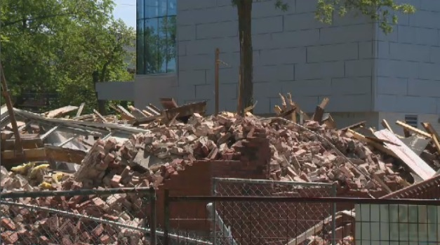Demolition site of former Halifax Bethany Home