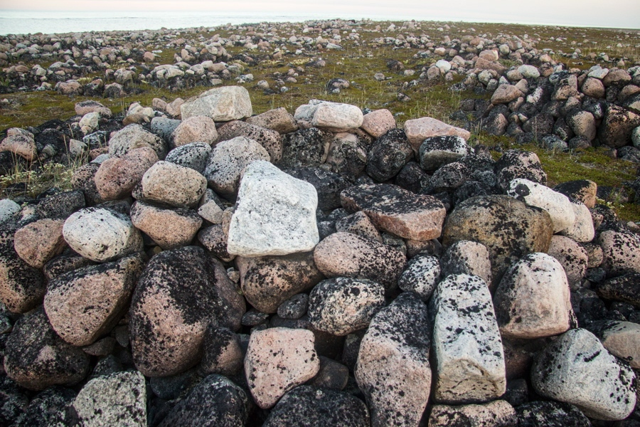 Ancient Inuit hunting camp in Manitoba