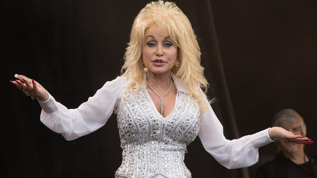 Dolly Parton performs at Glastonbury
