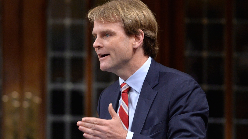 Minister of Citizenship and Immigration Chris Alexander answers a question during question period in the House of Commons in Ottawa, Thursday, June 12, 2014. (Adrian Wyld / THE CANADIAN PRESS)