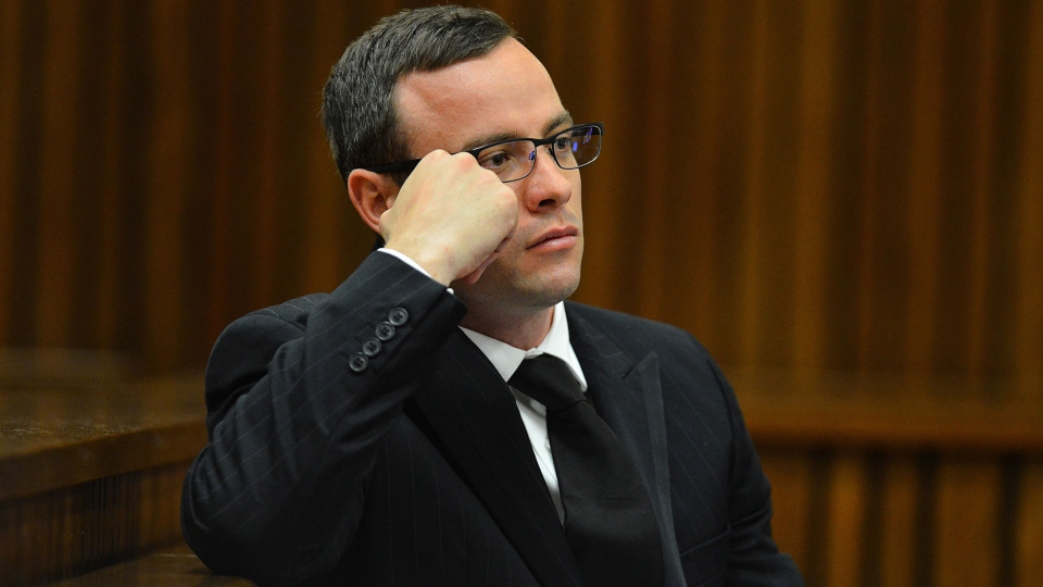 Oscar Pistorius listens to evidence in court in Pretoria, South Africa, Mopnday June 30, 2014. (AP / Phill Magakoe.)
