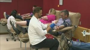 CTV Edmonton: Canadian Blood Services donations