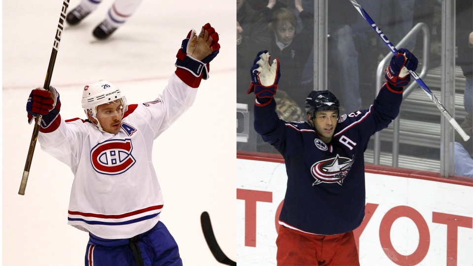 Two of the Habs' moves on July 1, the first day of free agency: the team traded Josh Gorges to the Buffalo Sabres and picked up free agent Manny Malhotra. (AP file photos)