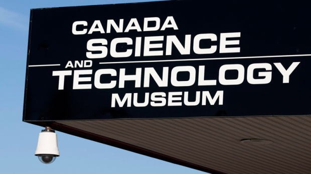 The sign for the Canada Science and Technology museum in Ottawa is seen on Friday, November 12, 2010. (Pawel Dwulit / THE CANADIAN PRESS)