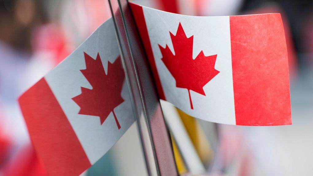 Canada flag on Canada Day