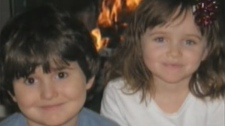 Dominic (left) and Abby Maryk are shown in a file image.