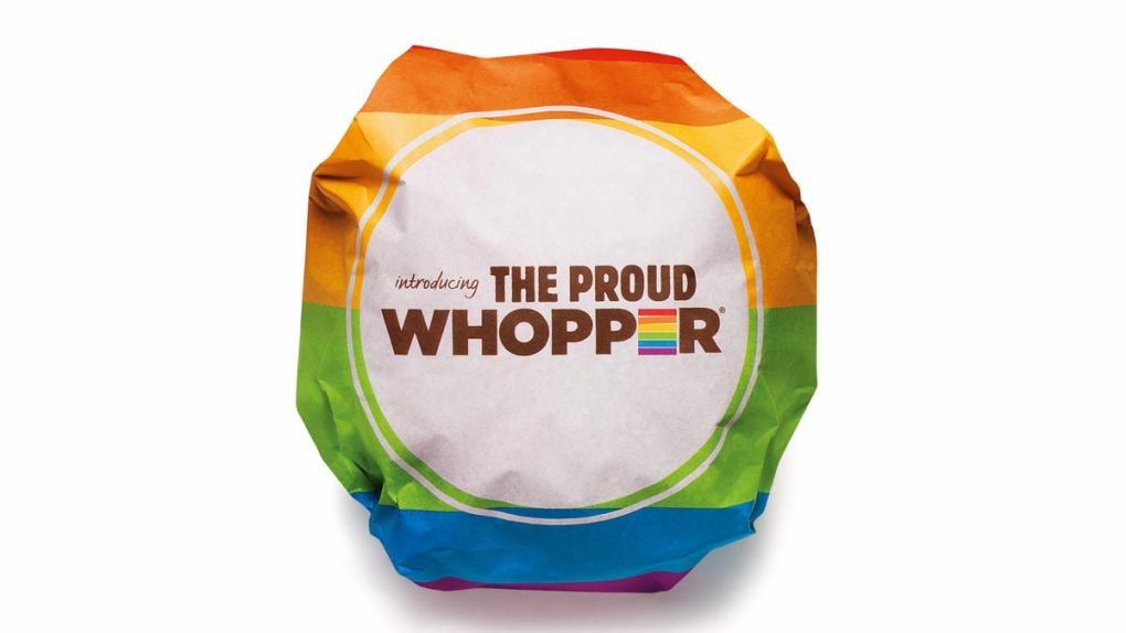 Burger King's Proud Whopper wrapper