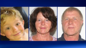 From left to right, Nathan O'Brien, 5, Kathryn Faye Liknes, 53, and Alvin Cecil Liknes, 66.