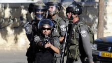 Israeli police during clashes in Jerusalem