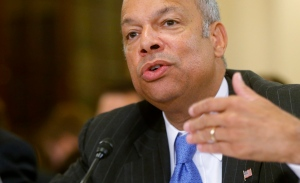 Homeland Security Secretary Jeh Johnson testifies on Capitol Hill in Washington on June 24, 2014. Johnson is ordering increased security measures at some overseas airports offering direct flights to the United States. (AP / Charles Dharapak)