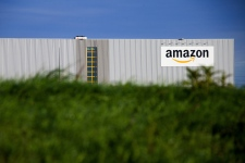 This Sept.19, 2013 photo shows the new logistics centre of online merchant Amazon in Lauwin-Planque, northern France. (AP Photo/Michel Spingler)