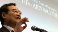 Researcher Dr. Chil-Yong Kang answers questions at a news conference in London, Ont., Tuesday, Dec. 20, 2011. (Mark Spowart /  THE CANADIAN PRESS)