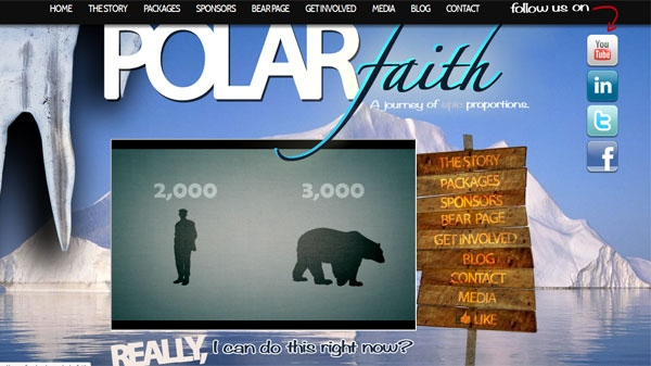 Two Canadians are set to leave for the North Pole on Wednesday, Dec. 21, 2011 to help raise money for polar bears. They launched PolarFaith.com to help raise money.