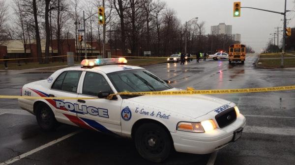 Pedestrian dead after being struck by school bus | CTV News