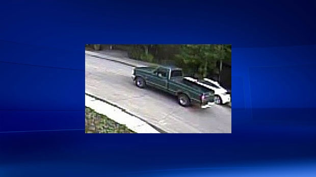 Police say this truck was seen in the area several times on the night the three disappeared.