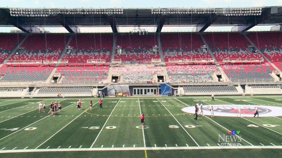 The home of the Ottawa RedBlacks is getting an official kickoff with a ribbon-cutting ceremony at TD Place, Wednesday evening.
