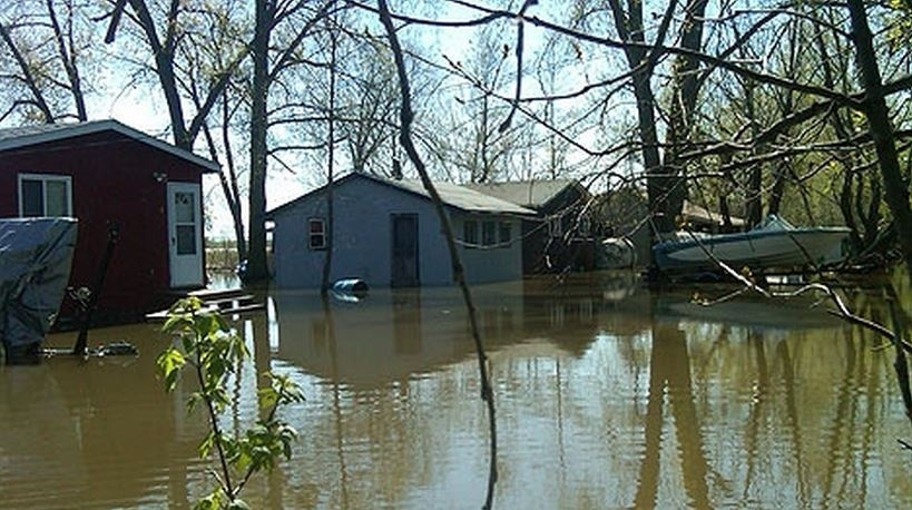 Flooded Delta Beach homes are seen in this file photo from the 2011 floods.