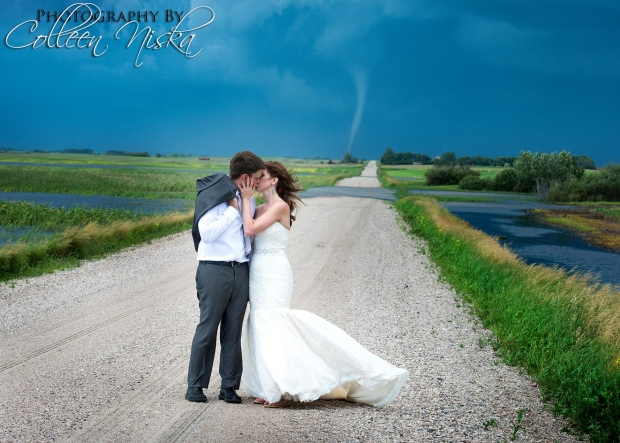 Tornado in wedding photos