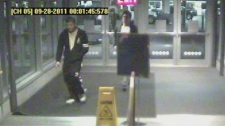 Surveillance footage released Thursday depicts two persons of interest in the slaying of Maple Batalia. Dec. 22, 2011. (Handout)