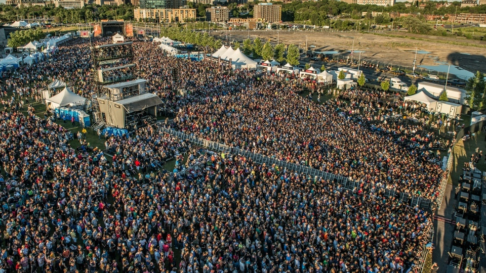 A bird's eye view of Bluesfest taken by the festival's official photographer, Steve Gerecke. Courtesy Steve Gerecke / Bluesfest