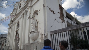 Earthquake damage in Guatemala