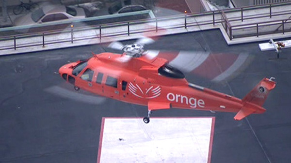 Injured snowmobiler airlifted to Toronto hospital