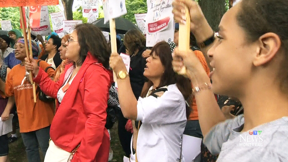 Daycare workers strike in Montreal