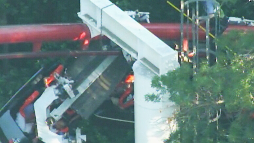 Roller-coaster accident injures 4 near L.A. | CTV News