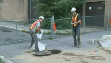 CTV Montreal:  Oil mess in LaSalle sewer