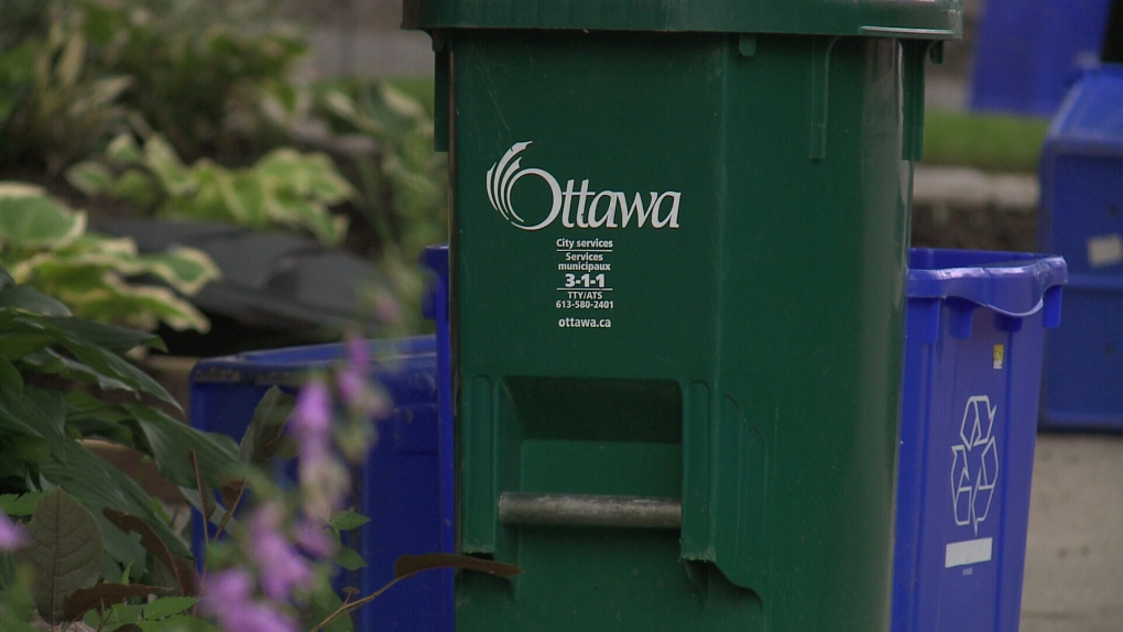 Ottawa green bin, recycling, garbage