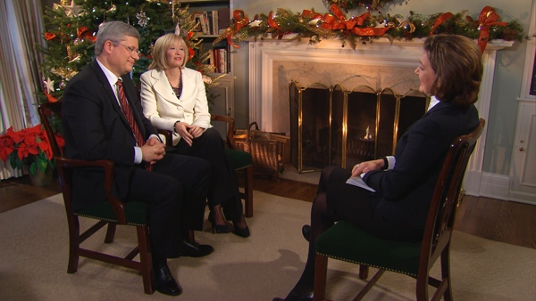 CTV News Chief Anchor and Senior News Editor Lisa LaFlamme sits down with Prime Minister Stephen Harper and Laureen Harper for an exclusive interview.