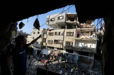 Destruction from Israel air strikes in Gaza