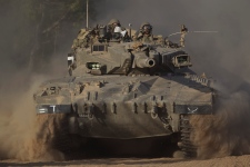Israel tanks near the Gaza border