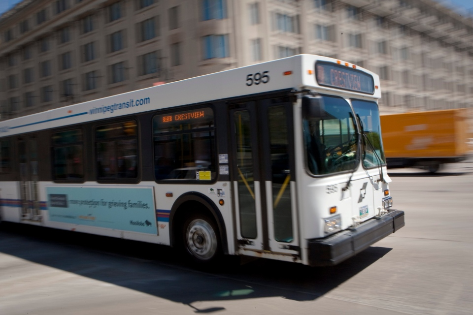 A bus is pictured in Winnipeg Wednesday May 25, 2011. (Francis Vachon / THE CANADIAN PRESS)